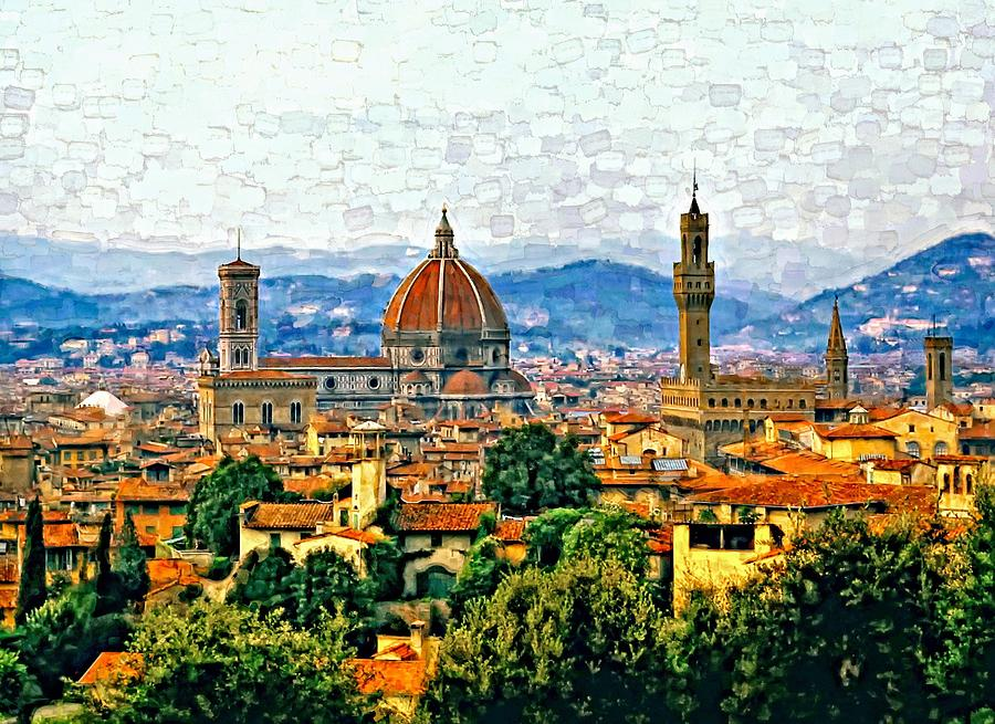Florence Photograph - Florence Watercolor by Steve Harrington