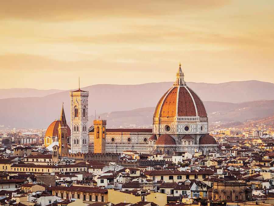 Florences Cathedral And Skyline At Photograph by Filippobacci