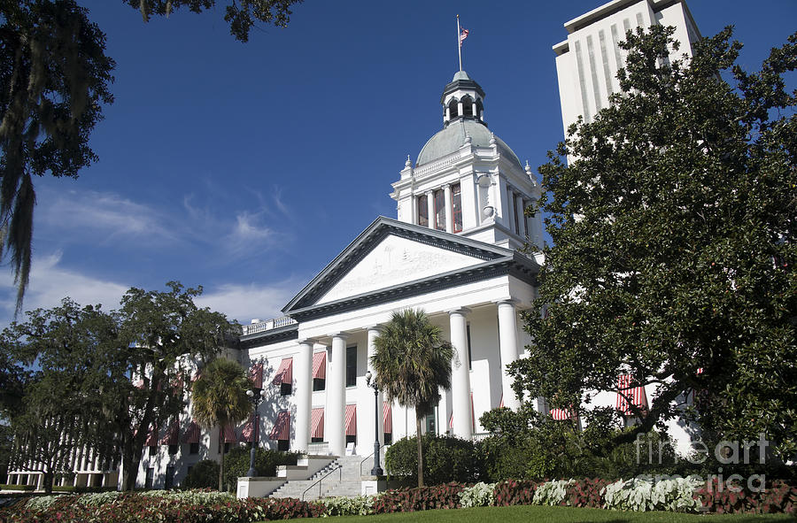 Architecture Photograph - Florida Capital Building by Ules Barnwell