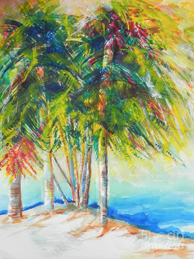 Watercolor Painting Painting - Florida Inspiration  by Chrisann Ellis