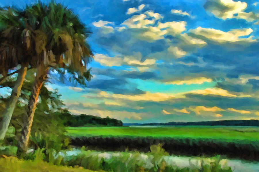 Kenny Francis Photograph - Florida Landscape With Palms by Kenny Francis