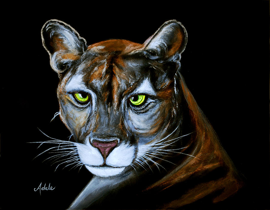 Panther Painting - Florida Panther Jeremiah by Adele Moscaritolo