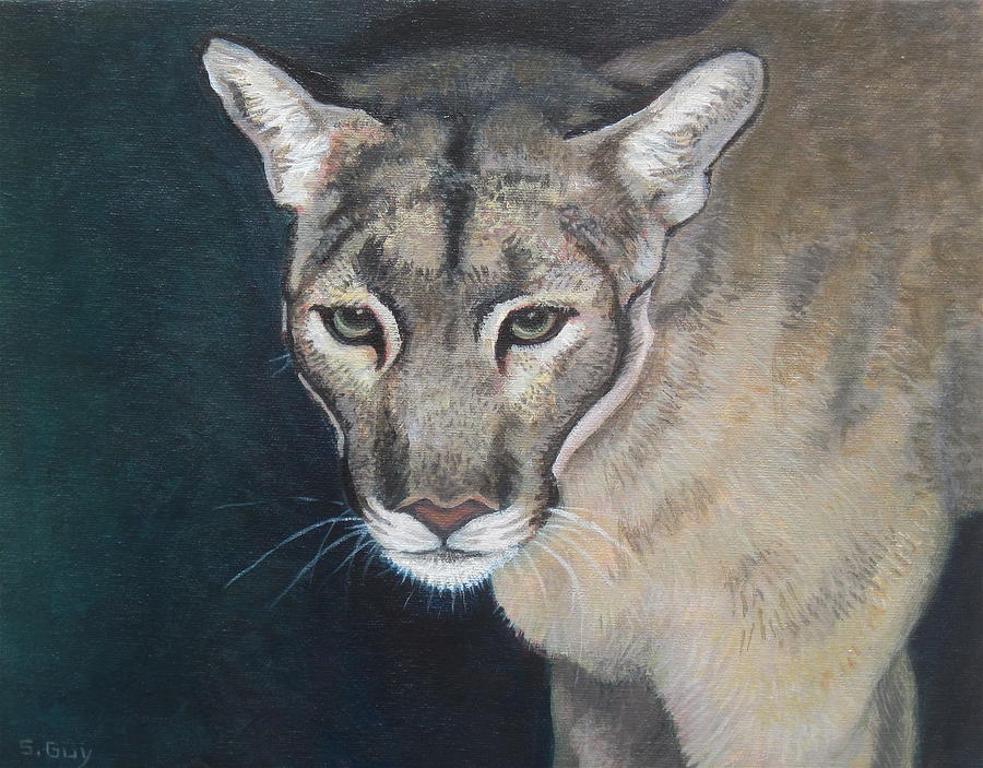 Wildlife Painting - Florida Panther by Sharon Guy
