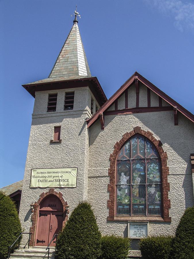 New York Photograph - Florida Reform Church by Eric Swan