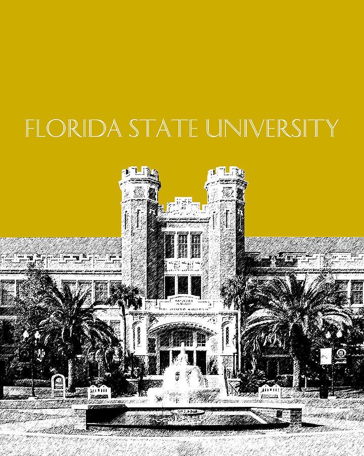 University Digital Art - Florida State University - Gold by DB Artist