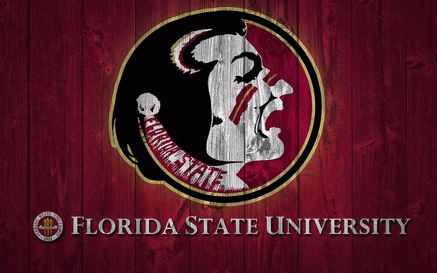 Florida State University Mixed Media - Florida State University Barn Door by Dan Sproul