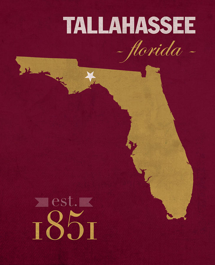 Map Of Tallahassee Florida.Florida State University Seminoles Tallahassee Florida Town State