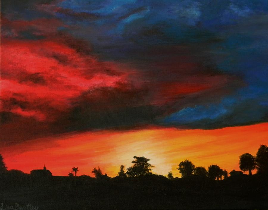 Sunset Painting - Florida Sunset by Lisa Bentley