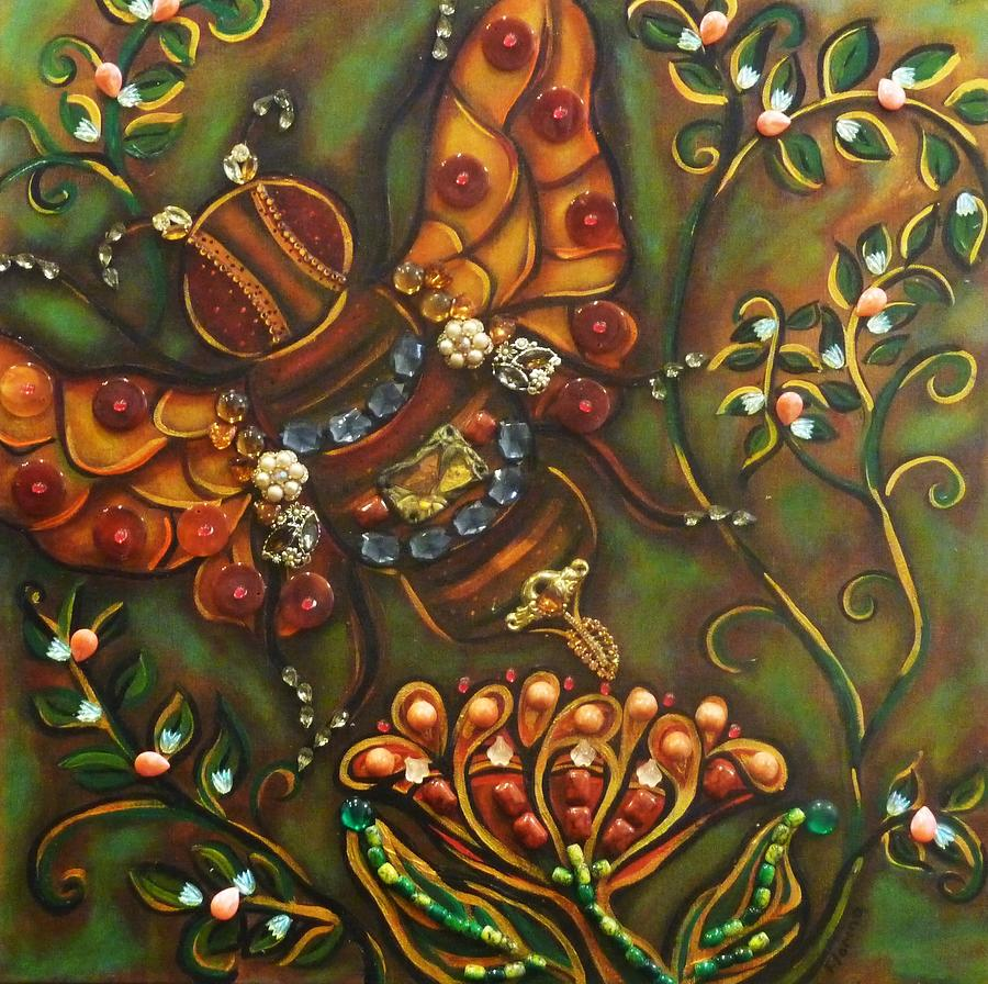 Bee Painting - Florina by Marie Howell Gallery