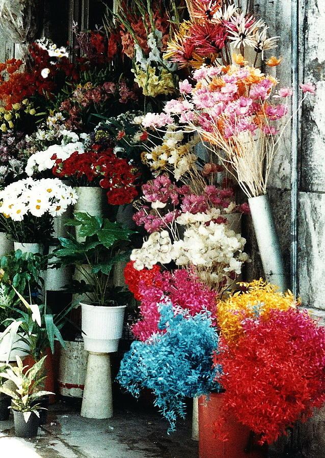 Florist In Athens Photograph by Jacqueline M Lewis