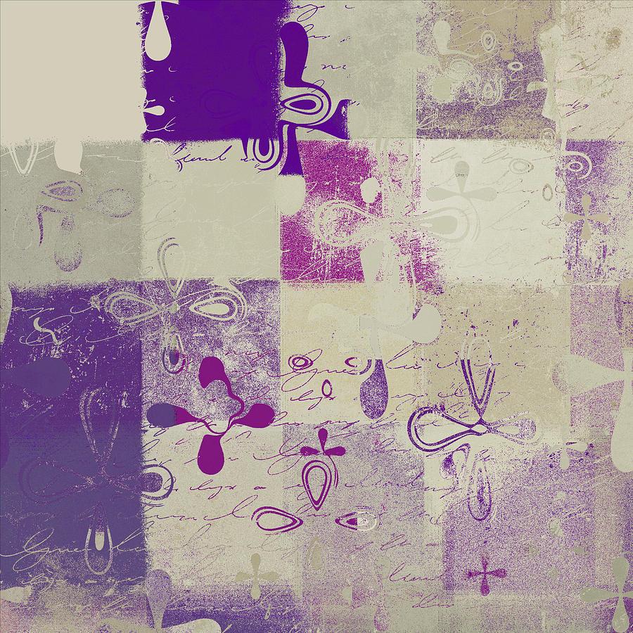 Purple Digital Art - Florus Pokus 02d by Variance Collections