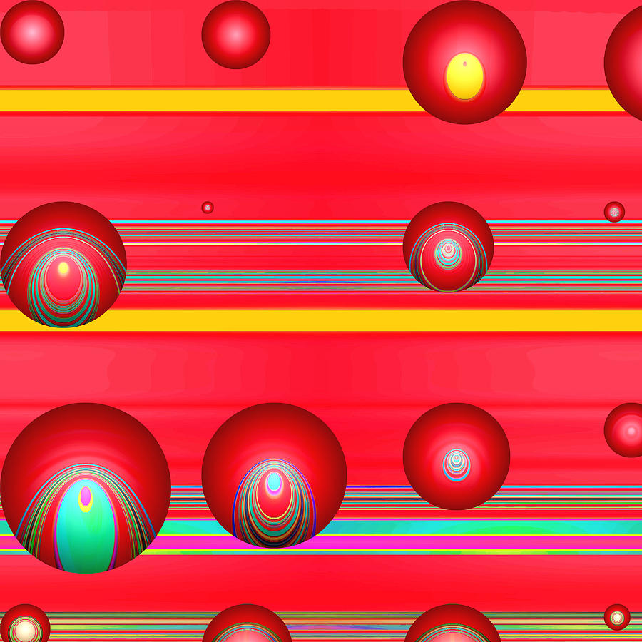Abstract Digital Art - Flotation Devices - Lipstick by Wendy J St Christopher