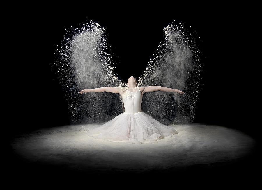 Angel Photograph - Flour Wings by Pauline Pentony Ba