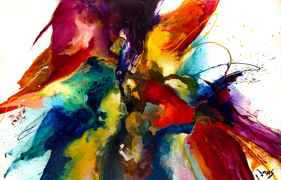 Abstract Painting - Flourish III by Jonas Gerard