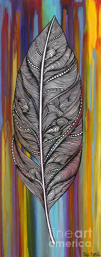 Feather Painting - Flow by Carla Bank