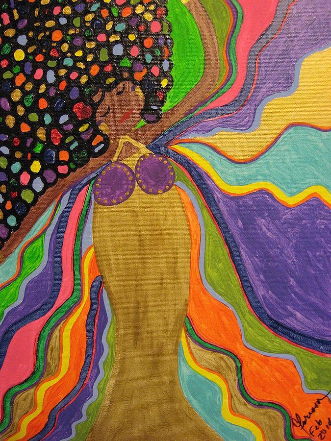 Brilliant Painting - Flow by Clarissa Burton