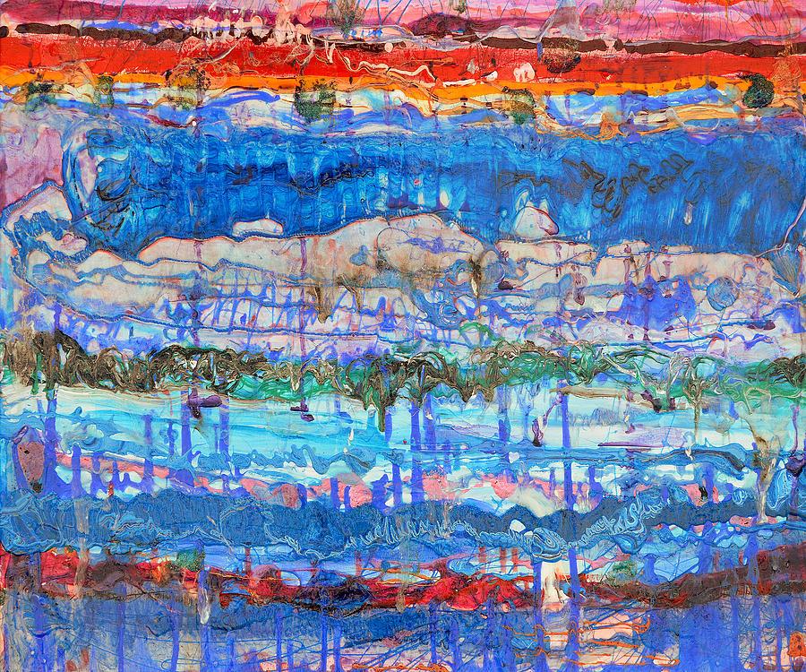 Bifurcation Painting - Flow Instability by Regina Valluzzi