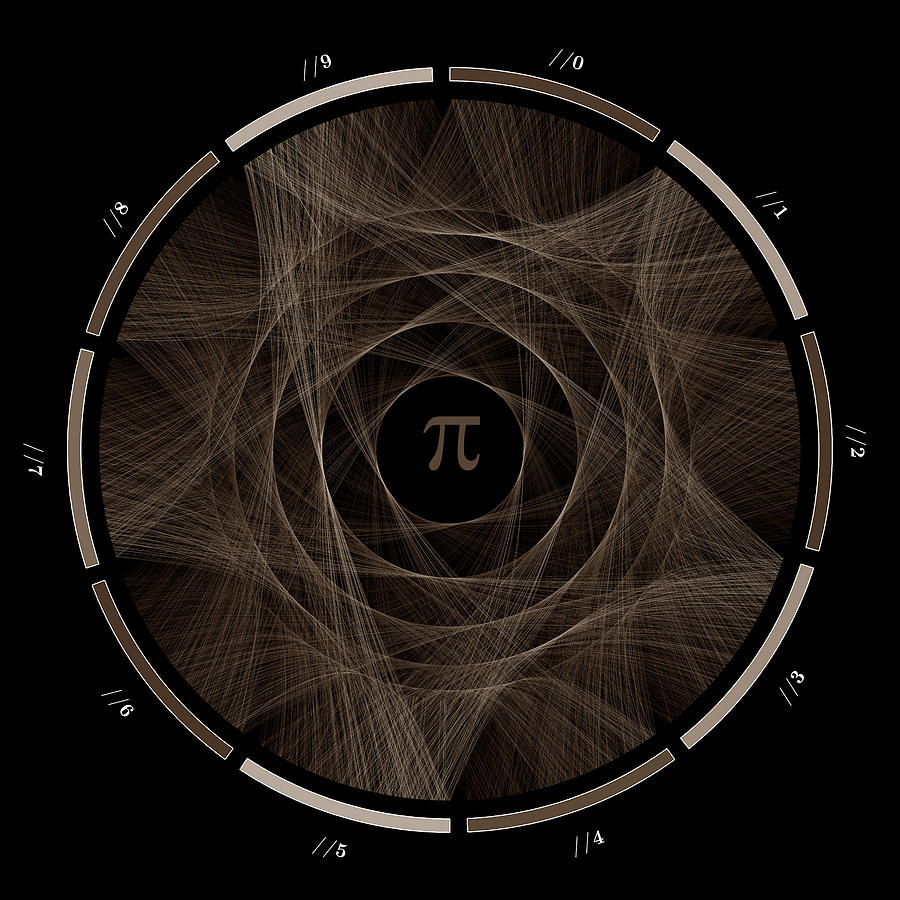 Pi Digital Art - Flow of life flow of pi #2 by Cristian Vasile