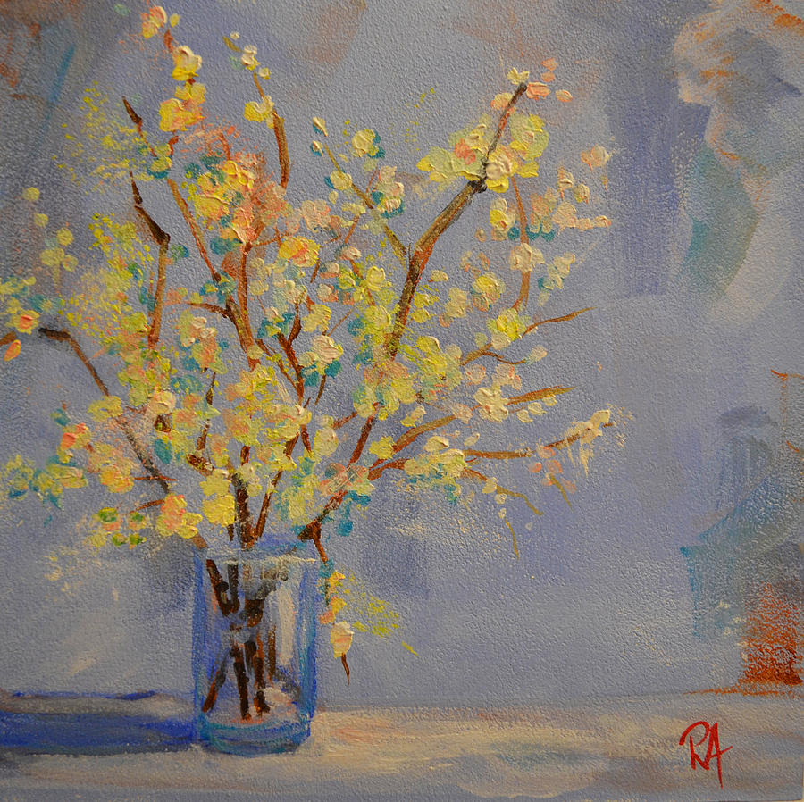 Still Life Painting - Flower Arrangement Exotic  by Patricia Awapara