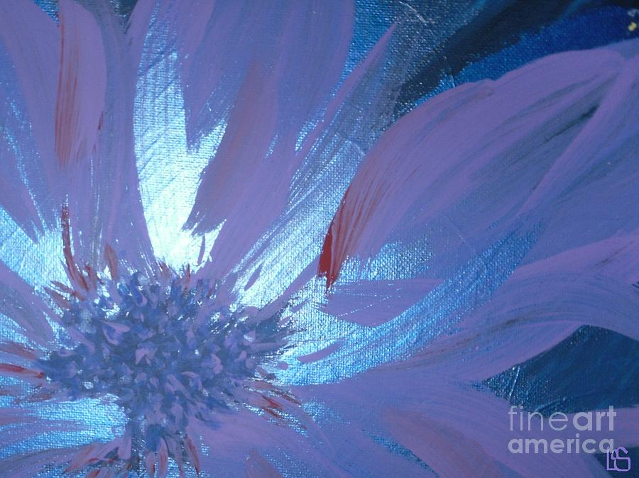 Flower Painting - Flower Blue II by LCS Art