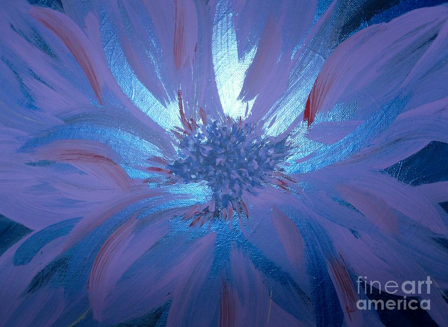 Flowers Painting - Flower Blue by LCS Art