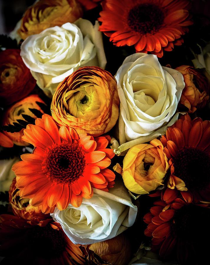 Flower Bouquet In Autumn Colours Photograph by Lise Ulrich Fine Art Photography
