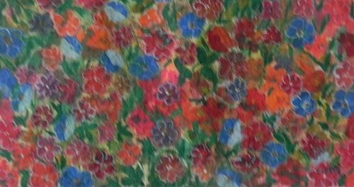 Watercolor Painting - Flower Carpet by Usha Rai