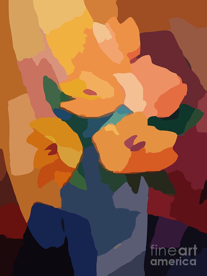 Arty Flowers Digital Art - Flower Deco I by Lutz Baar