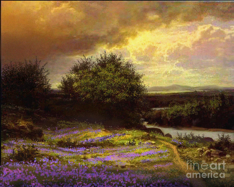 Landscape Painting - Flower Dell by Robert Foster