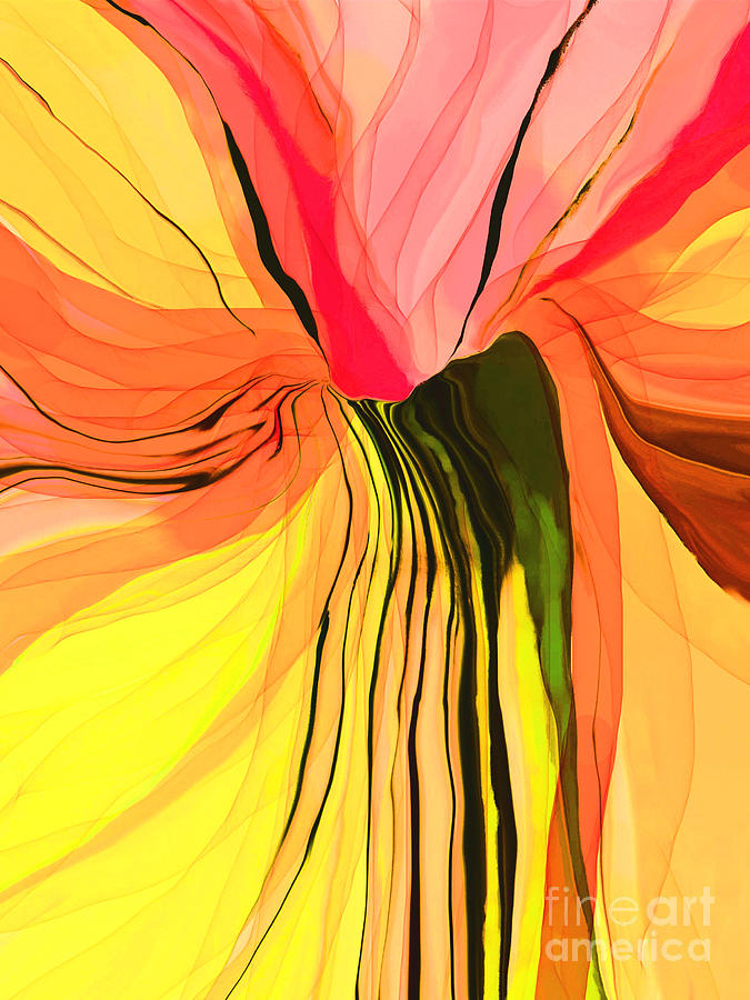 Abstract Painting - Flower Fantasy by Hilda Lechuga
