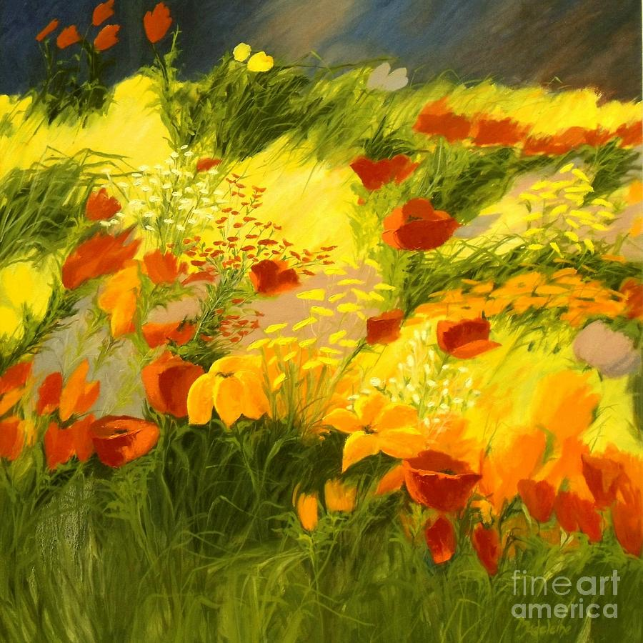 Canvas Prints Painting - Flower Fantasy by Madeleine Holzberg