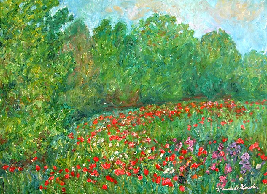 Landscape Paintings Painting - Flower Field by Kendall Kessler