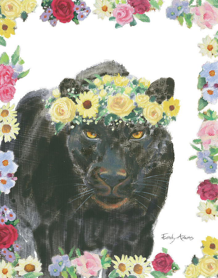 African Painting - Flower Friends V by Emily Adams
