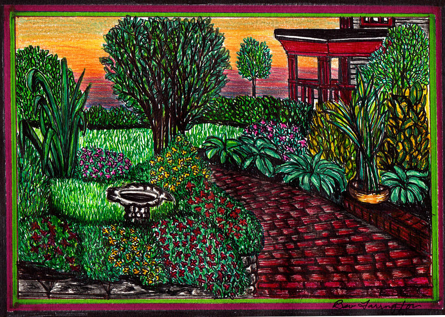 Flower Garden Drawing by Beverly Farrington