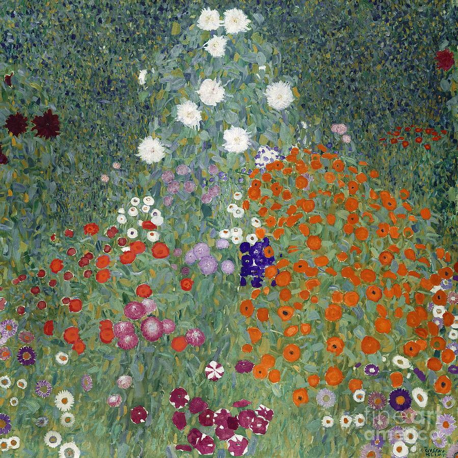Klimt Painting   Flower Garden By Gustav Klimt