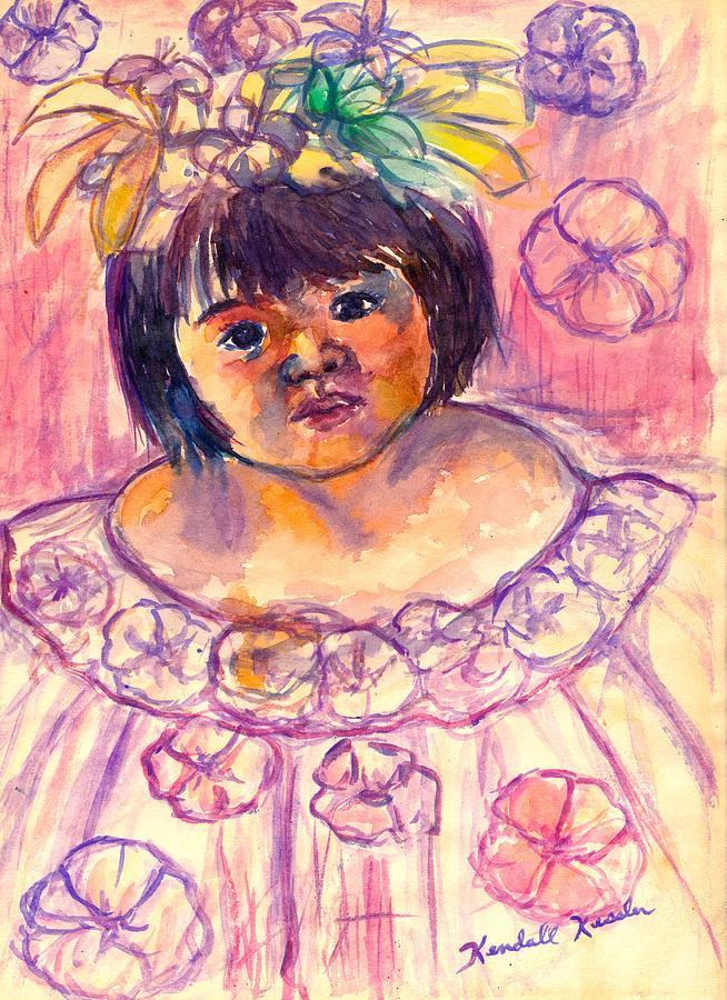 Girl Painting - Flower Girl by Kendall Kessler