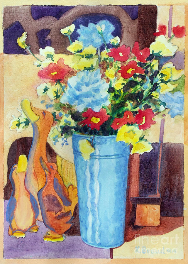 Painting Painting - Flower In The Dell by Kathy Braud