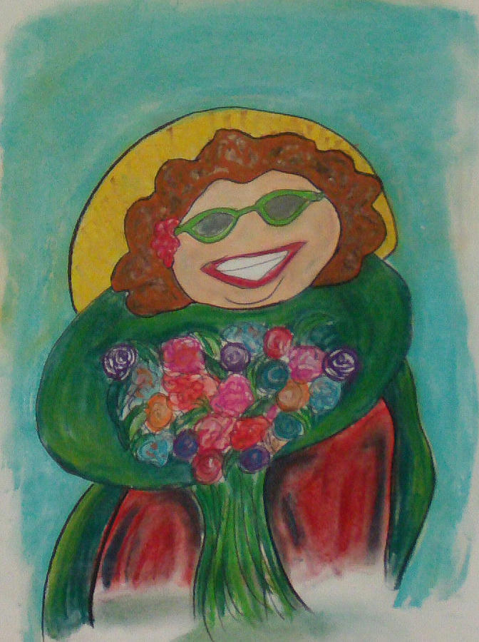 Big Girl Pastel - Flower Lady by Erica Simons