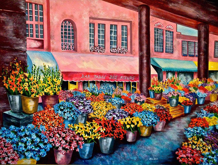 Flower market in Nice France by Jan Law