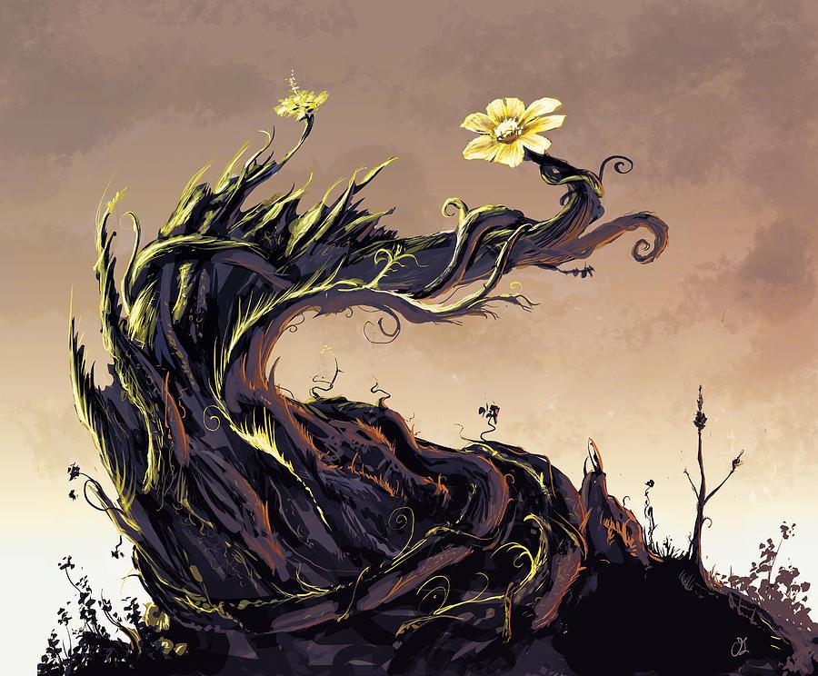 Flower Digital Art - Flower by Odysseas Stamoglou