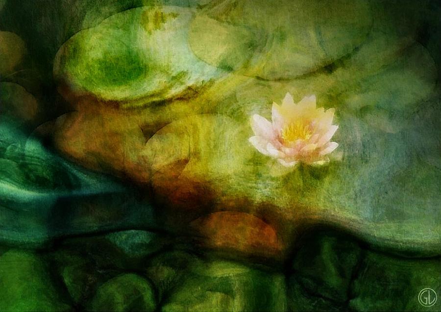 Pond Digital Art - Flower Of Hope by Gun Legler