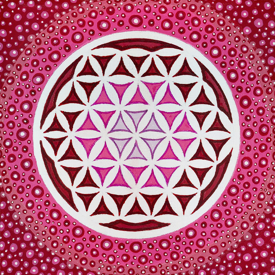 Sacred Geometry Paintings Painting - Flower Of Life by Christopher Sheehan