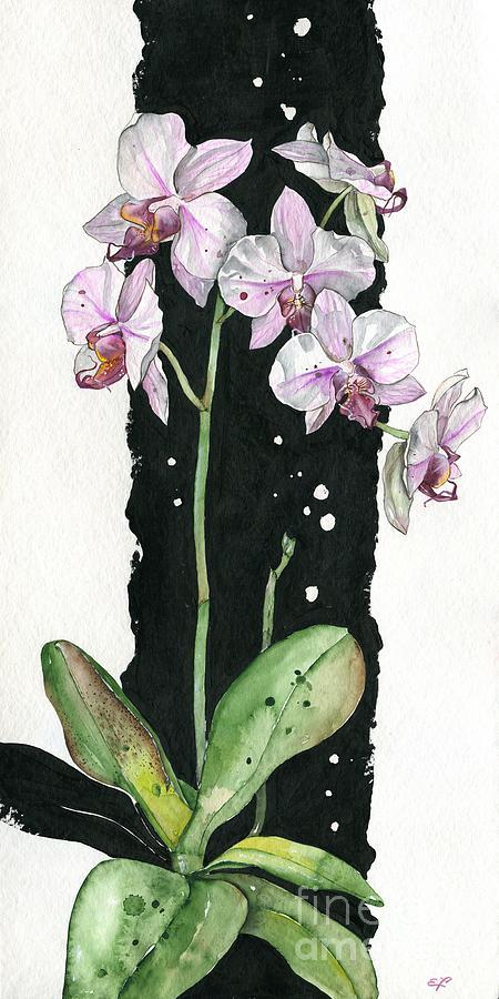 Beautiful Painting - Flower Orchid 02 Elena Yakubovich by Elena Yakubovich