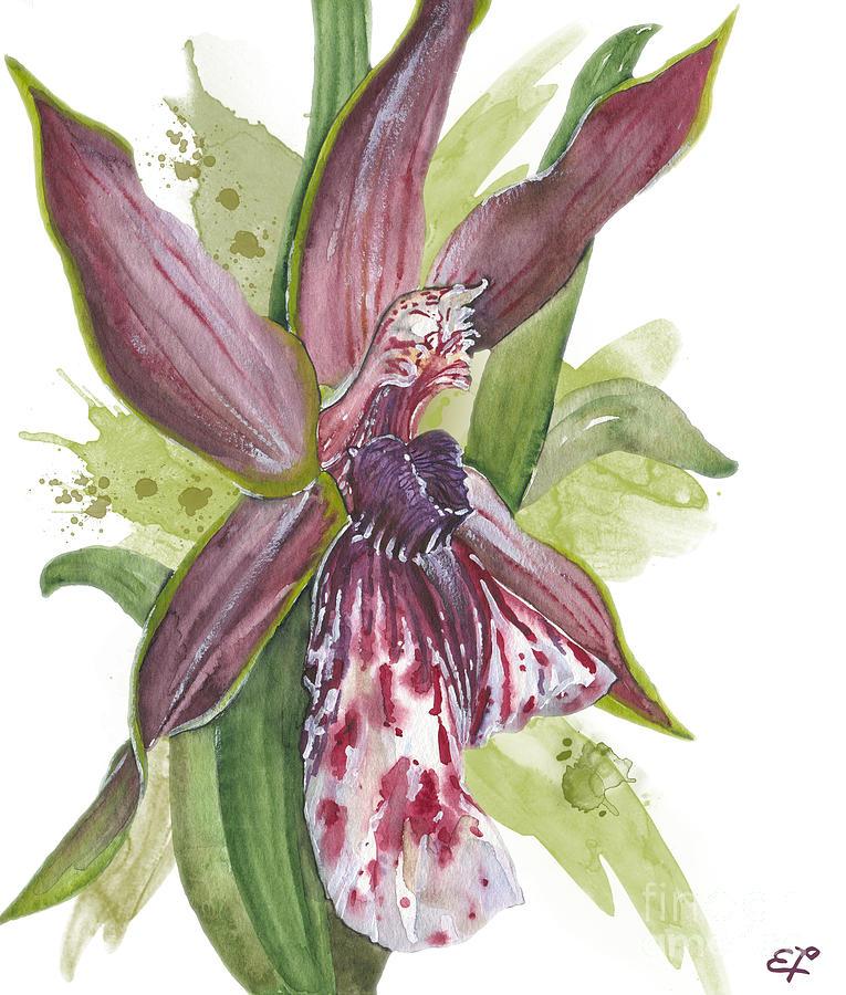 Orchid Painting - Flower Orchid 10 Elena Yakubovich by Elena Yakubovich