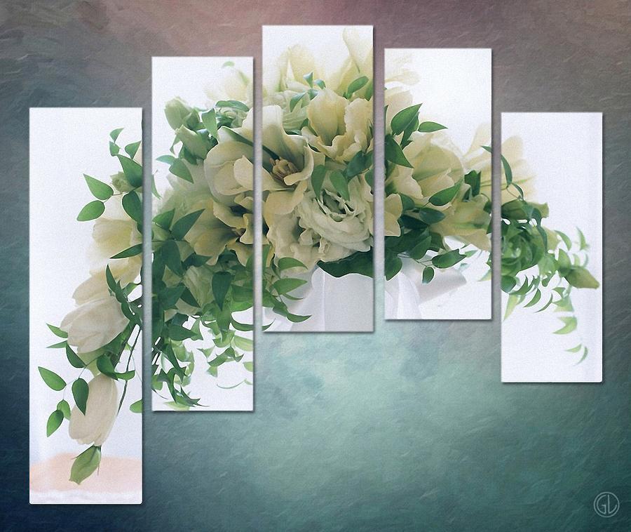 Gun Legler Digital Art - Flower Panels by Gun Legler