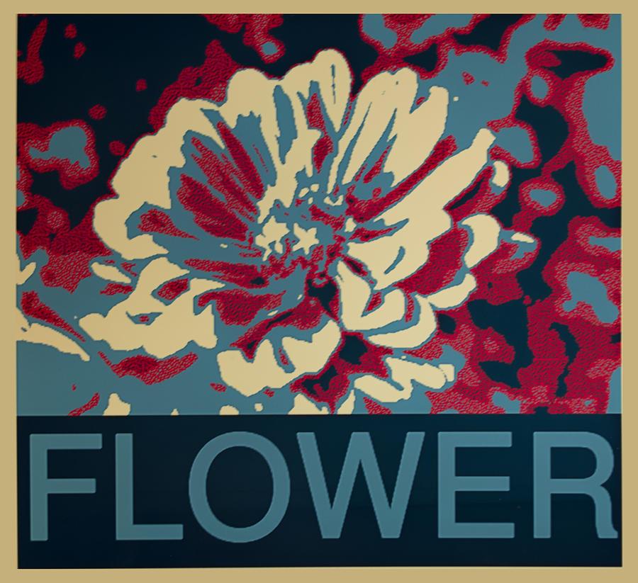 Barbara Snyder Digital Art - Flower Poster by Barbara Snyder