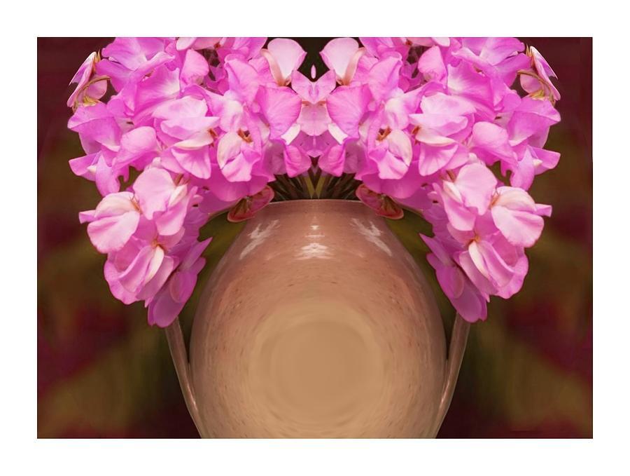 Flower Digital Art - Flower Pot Iv by Ck Gandhi