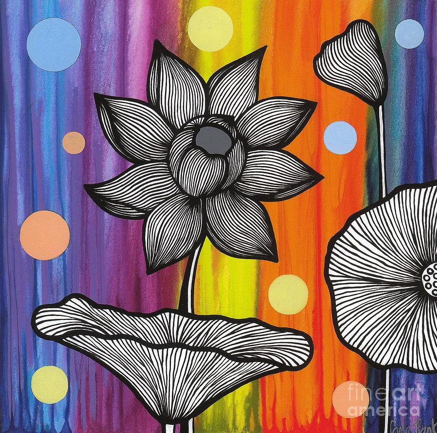 Flower Painting - Flower Power by Carla Bank
