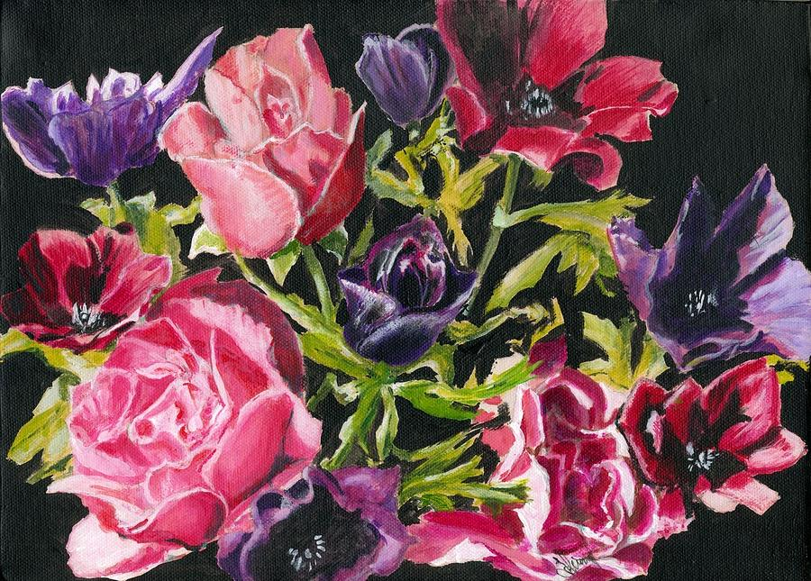 Hyper Realism Drawing - Flower Power by John Simlett