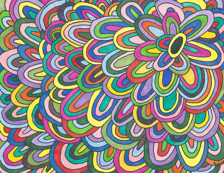 Flower Power Painting By Susie Weber